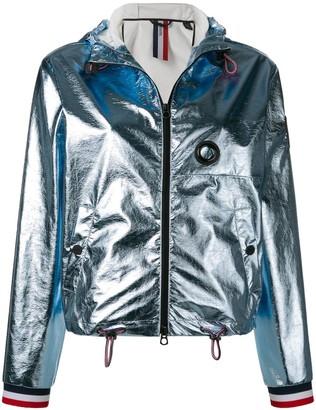 Rossignol metallic hooded bomber jacket