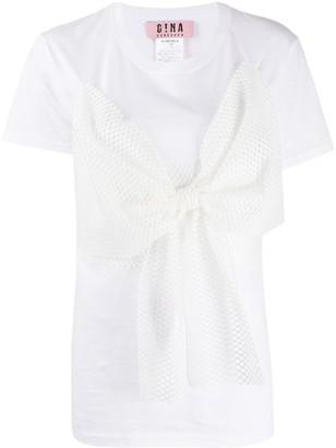 Gina mesh bow T-shirt