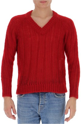 Prada V-Neck Knitted Sweater