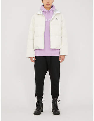 FIVECM Reversible funnel-neck shell-down puffer jacket