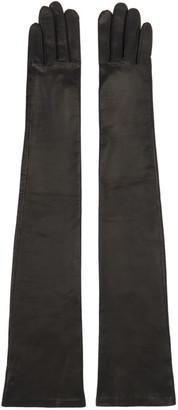 Givenchy Black Lambskin Long Gloves