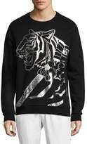 Versace Metallic Foil Tiger Sweater
