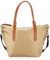 Neiman Marcus East-West Dog Ear Tote Bag, Camel