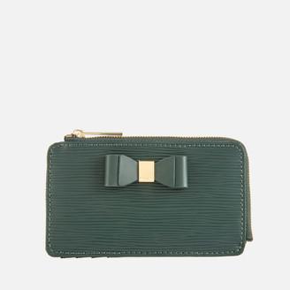 Ted Baker Women's Blueb Bow Detail Card Holder - Dark Green