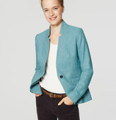 LOFT Tweed Notched Blazer