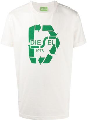 Diesel logo print crewneck T-shirt