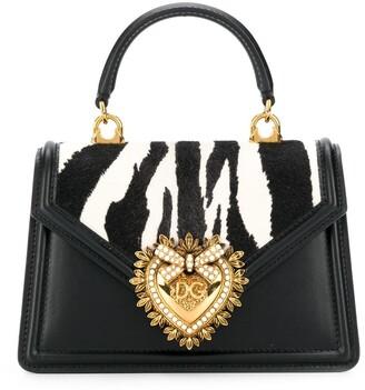 Dolce & Gabbana Devotion zebra-print tote bag