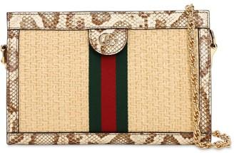 Gucci OPHIDIA STOW 70 SNAKESKIN SHOULDER BAG