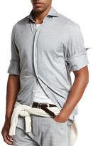Brunello Cucinelli Piqué; Knit Sport Shirt