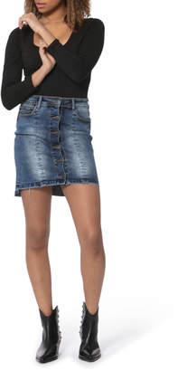 Liel Button down denim skirt