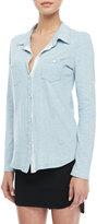 Splendid Indigo-Dye Buttoned Shirt