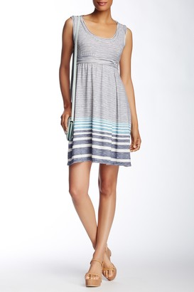 Max Studio Sleeveless Striped Jersey Fit & Flare Dress