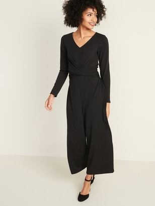 Old Navy Twist-Front Jersey-Knit Jumpsuit for Women
