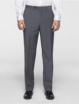 Calvin Klein Body Slim Fit Grey Plaid Suit Pants