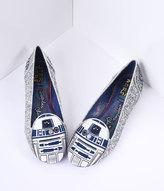 Irregular Choice Silver Glitter Star Wars R2-D2 Astromech Flats