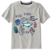 Gymboree Boy's Size 12-18M Sea Embroidery Short Sleeve Tee in Grey