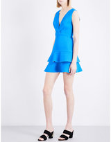 Sandro Ruffled fit-and-flare woven dress