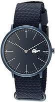 Lacoste Men's Quartz Resin and Leather Casual Watch, Color:Blue (Model: 2010874)