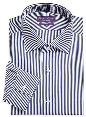Ralph Lauren Purple Label Aston Striped Tailored Long-Sleeve Dress Shirt