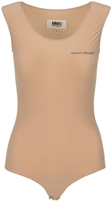 MM6 MAISON MARGIELA Logo Sleeveless Bodysuit