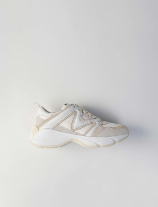 Maje W22 mixed material sneakers