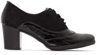 Anne Weyburn High Heeled Leather Brogues