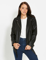 Dotti Oversized Pu Biker Jacket