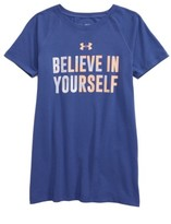 Under Armour Girl's Heatgear Believe In Yourself Tee
