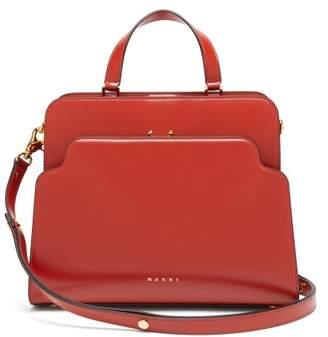 Marni Trunk Reverse Large Leather Bag - Womens - Orange