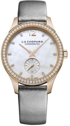 Chopard Rose Gold and Diamond L.U.C XPS Automatic Watch 35mm