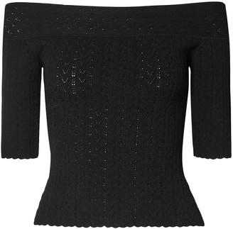 Altuzarra Barnehurst Off-the-shoulder Pointelle-knit Top