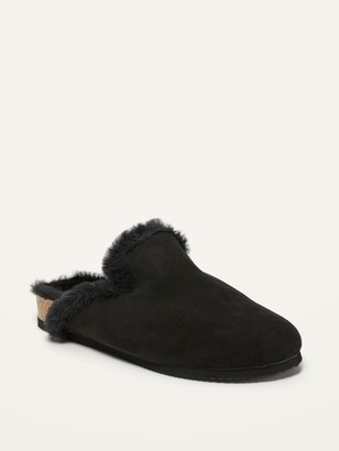 Old Navy Faux-Fur Lined Slip-On Mule Slides for Women