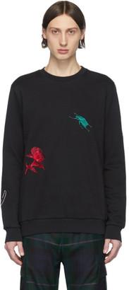 Paul Smith Black Embroidered Charm Sweatshirt