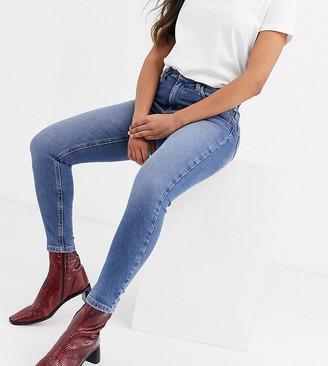 Topshop Petite Jamie skinny jeans in mid wash