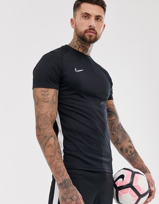 Nike Football Dry Academy T-Shirt In Black