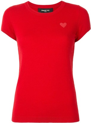 Paule Ka Heart-Patch Knitted Top
