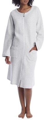 Eileen West Diamond Quilt Long Zip Robe