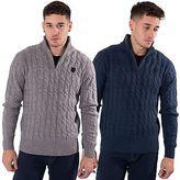 Kangol Mens Plus Size Casual Funnel Neck Knitwear Branded Winter Jumper 2XL-5XL