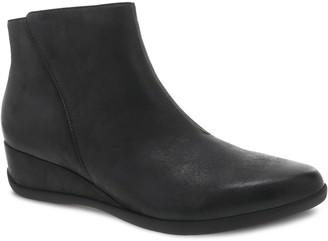 Dansko Women's Leather Zip Boots - Serenity