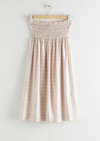 Thumbnail for your product : And other stories Stripe Smocked Midi Skirt