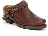 Frye Belted Harness Strap and Harness Slip-On Mules
