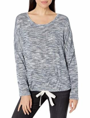 Hue Women's Knit Long Sleeve Pajama Sleep Shirt