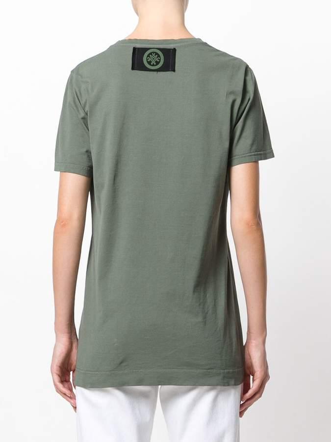 Mr & Mrs Italy fur pocket T-shirt