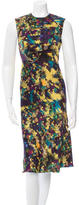 Erdem Silk Abstract Print Dress