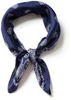 Topman Navy Paisley Silk Scarf*