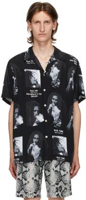 Wacko Maria Black Bob Marley Edition Hawaiian Short Sleeve Shirt