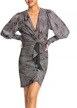 Thumbnail for your product : BA&SH ba & sh Lizie Gathered Ruffle Printed Dress