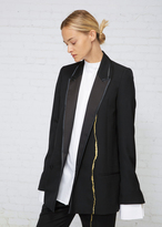 Haider Ackermann Black Gold Double Breasted Embroidery Blazer