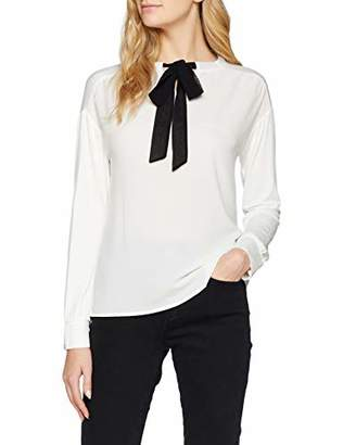 S'Oliver Women's 14.811.31.6471 Long Sleeve Top, Off-12 (Size: )