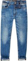 River Island Boys mid blue wash Sid skinny jeans